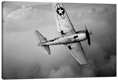 A Grumman F6F Hellcat Fighter Plane In Flight II Canvas Art Print