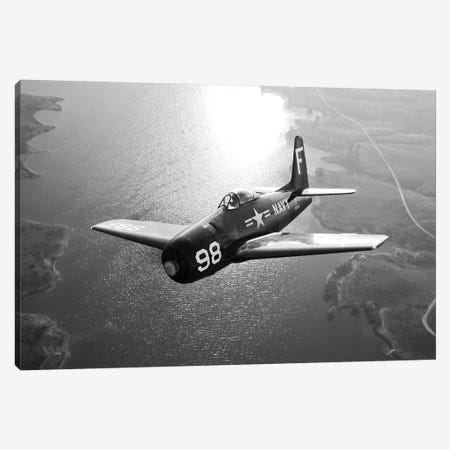 A Grumman F8F Bearcat In Flight Canvas Print #TRK474} by Scott Germain Art Print