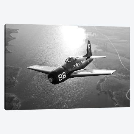 A Grumman F8F Bearcat In Flight Canvas Print #TRK474} by Scott Germain Art Print