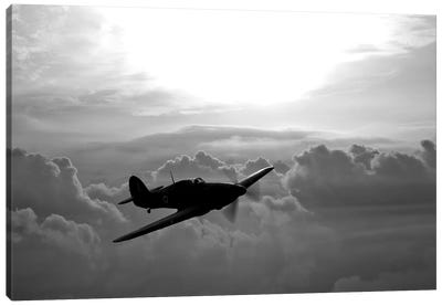 A Hawker Hurricane Aircraft In Flight II Canvas Art Print