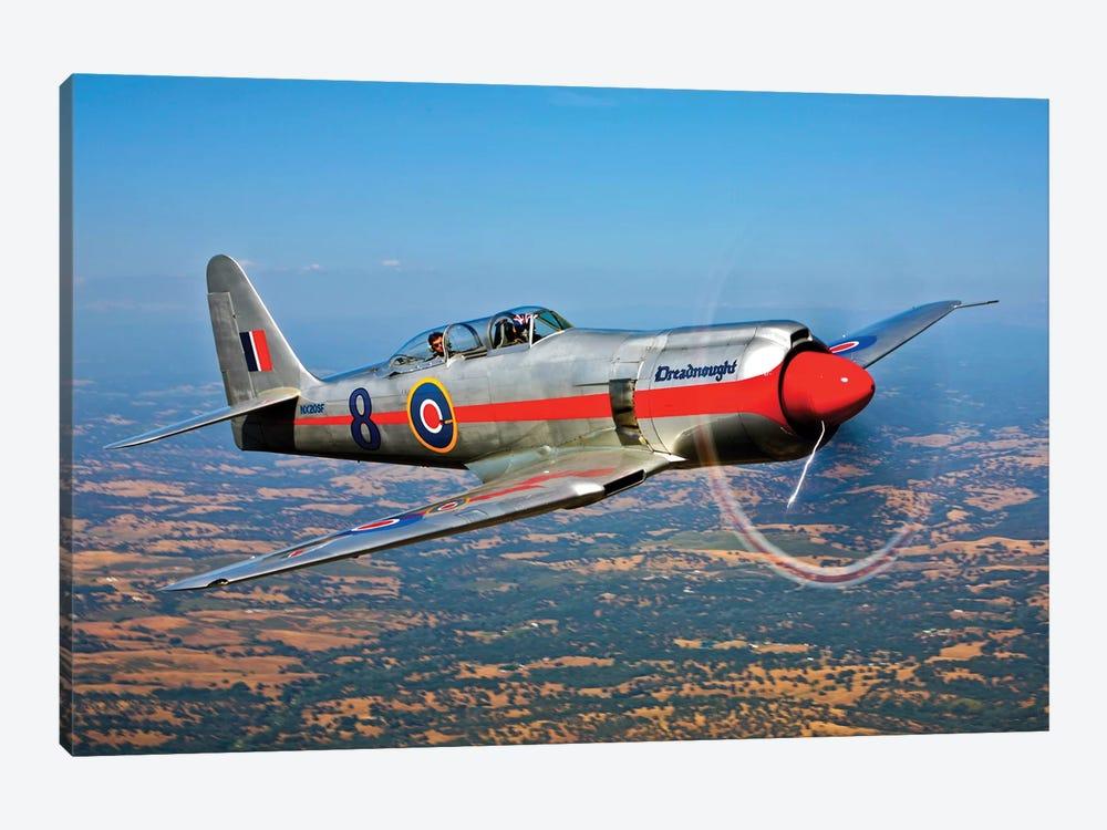 A Hawker Sea Fury T.Mk.20 Dreadnought Aircraft In Flight by Scott Germain 1-piece Canvas Art