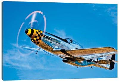 A North American P-51D Mustang In Flight Near Chino, California II Canvas Art Print