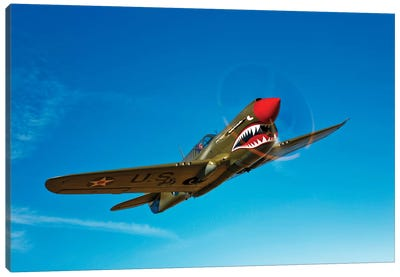 A P-40E Warhawk In Flight I Canvas Art Print