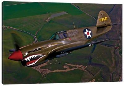 A P-40E Warhawk In Flight II Canvas Art Print