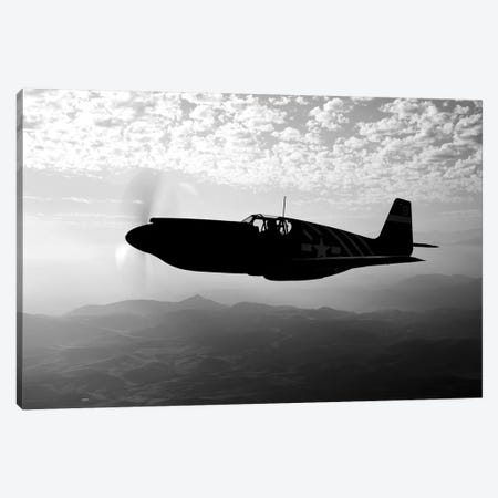 A P-51A Mustang In Flight I Canvas Print #TRK487} by Scott Germain Canvas Artwork