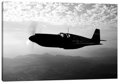 A P-51A Mustang In Flight I Canvas Art Print