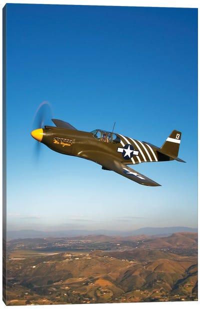 A P-51A Mustang In Flight II Canvas Art Print