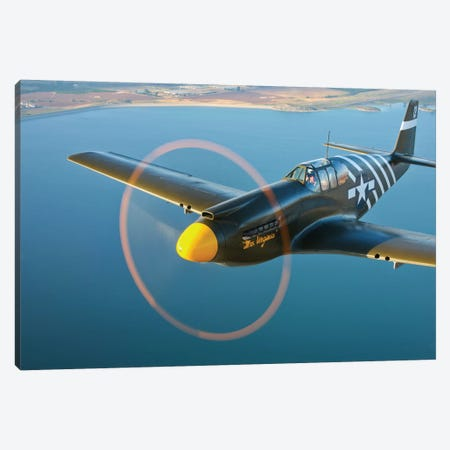 A P-51A Mustang In Flight III Canvas Print #TRK489} by Scott Germain Canvas Print