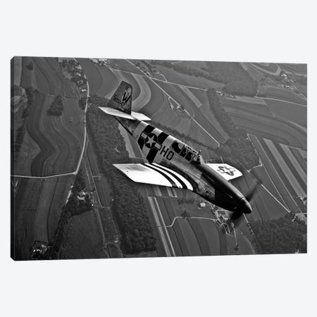 A P-51C Mustang In Flight Canvas Print #TRK490} by Scott Germain Canvas Art