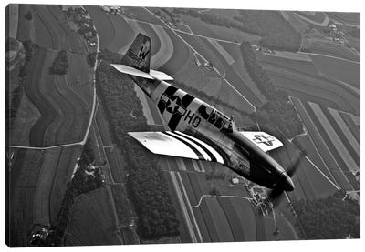 A P-51C Mustang In Flight Canvas Art Print