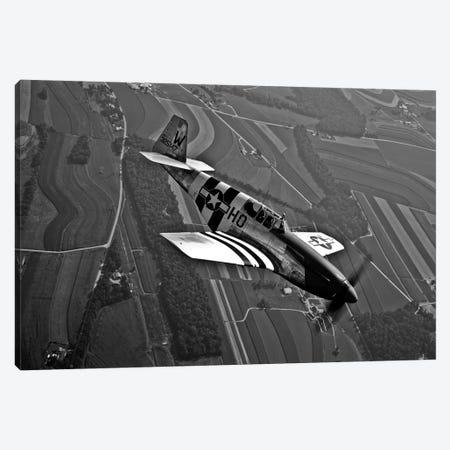 A P-51C Mustang In Flight Canvas Print #TRK490} by Scott Germain Canvas Art