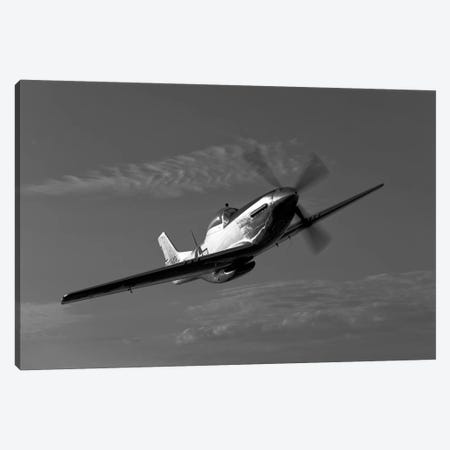 A P-51D Mustang In Flight Canvas Print #TRK491} by Scott Germain Canvas Art