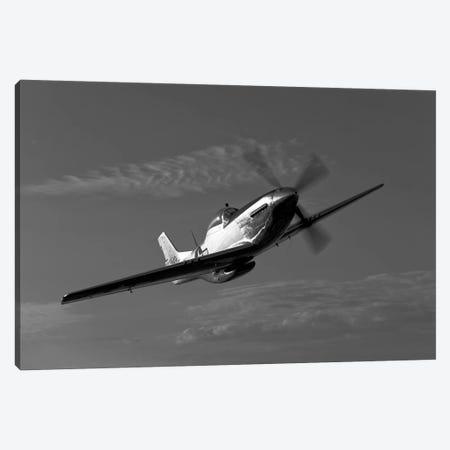 A P-51D Mustang In Flight Canvas Print #TRK491} by Scott Germain Canvas Art