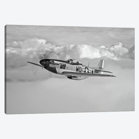 A P-51D Mustang In Flight Near Hollister, California Canvas Print #TRK492} by Scott Germain Canvas Art
