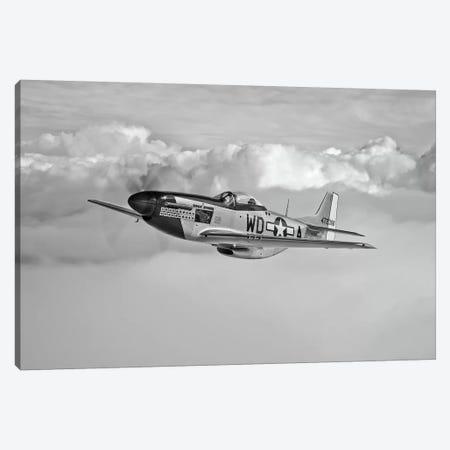 A P-51D Mustang In Flight Near Hollister, California Canvas Print #TRK492} by Scott Germain Canvas Art
