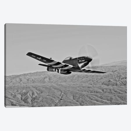 A P-51D Mustang In Flight Over Hollister, California Canvas Print #TRK493} by Scott Germain Canvas Art