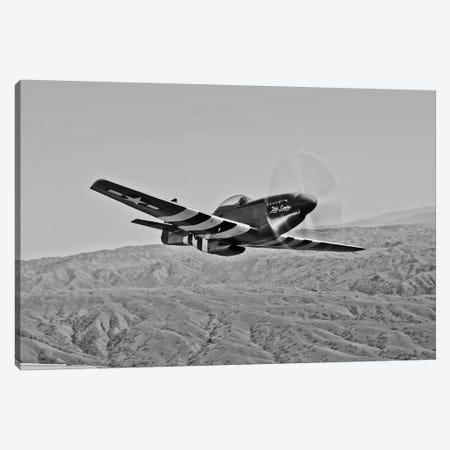 A P-51D Mustang In Flight Over Hollister, California Canvas Print #TRK493} by Scott Germain Canvas Art