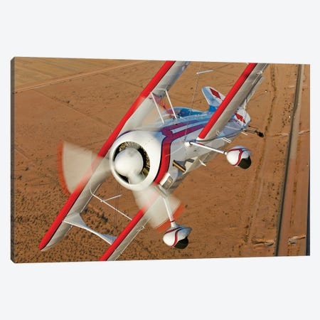 A Pitts Model 12 Biplane In Flight Canvas Print #TRK494} by Scott Germain Art Print