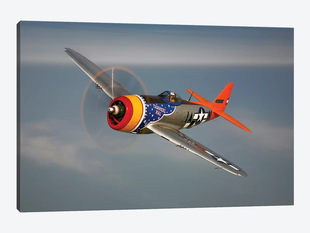 A Republic P-47D Thunderbolt In Flight by Scott Germain 1-piece Canvas Art Print