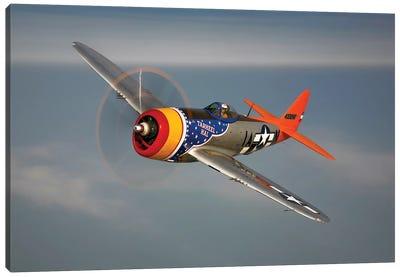 A Republic P-47D Thunderbolt In Flight Canvas Art Print