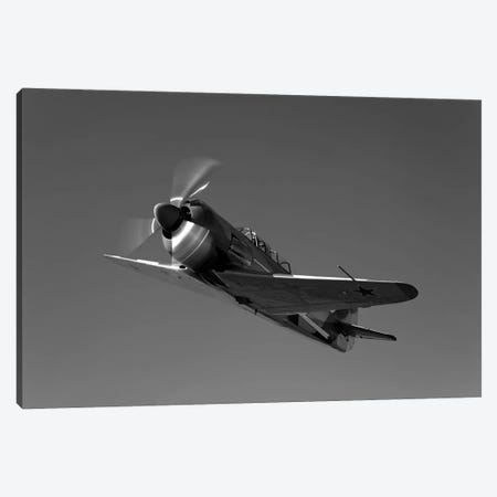 A Soviet Yakovlev Yak-11 Aircraft In Flight Canvas Print #TRK497} by Scott Germain Art Print