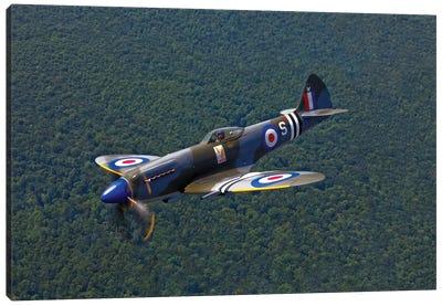 A Supermarine Spitfire Mk-18 In Flight Canvas Art Print