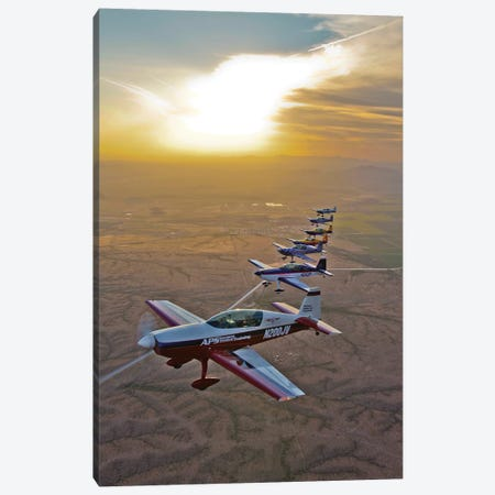 Extra 300 Aerobatic Aircraft Fly In Formation Over Mesa, Arizona II Canvas Print #TRK501} by Scott Germain Canvas Art