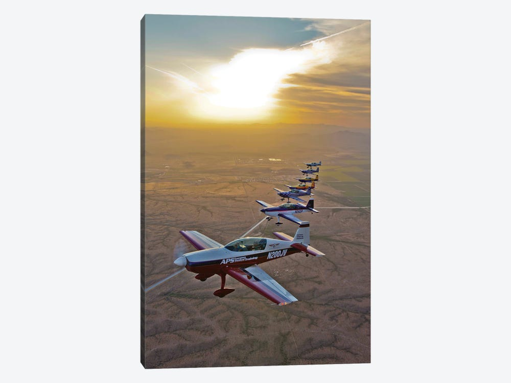 Extra 300 Aerobatic Aircraft Fly In Formation Over Mesa, Arizona II by Scott Germain 1-piece Canvas Artwork
