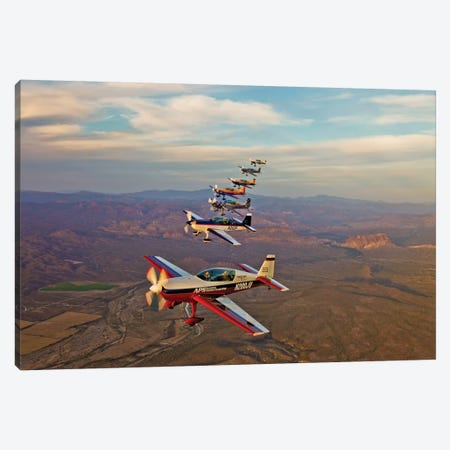 Extra 300 Aerobatic Aircraft Fly In Formation Over Mesa, Arizona III Canvas Print #TRK502} by Scott Germain Canvas Art