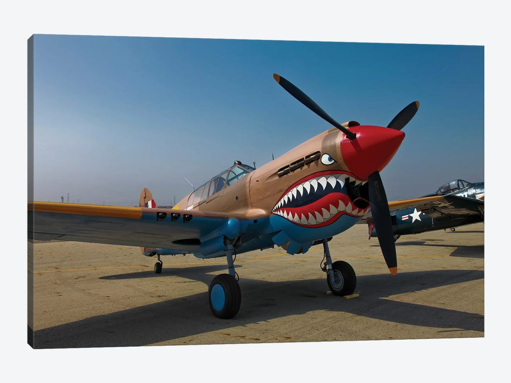 Nose Art On A Curtiss P-40E Warhawk by Scott Germain 1-piece Canvas Artwork