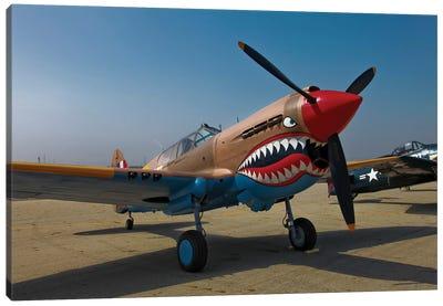 Nose Art On A Curtiss P-40E Warhawk Canvas Art Print