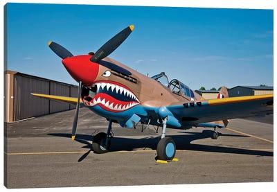 Nose Art On A Curtiss P-40E Warhawk I Canvas Art Print