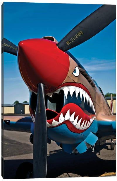 Nose Art On A Curtiss P-40E Warhawk II Canvas Art Print