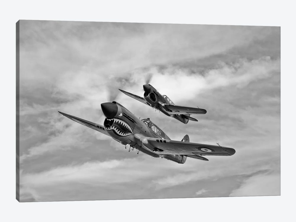Two Curtiss P-40 Warhawks In Flight Near Nampa, Idaho by Scott Germain 1-piece Canvas Art