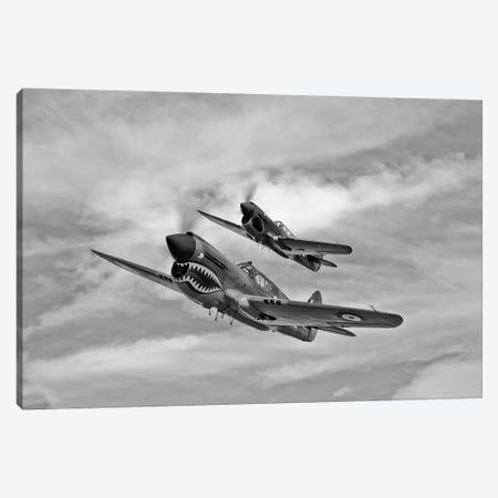 Two Curtiss P-40 Warhawks In Flight Near Nampa, Idaho Canvas Print #TRK510} by Scott Germain Canvas Print