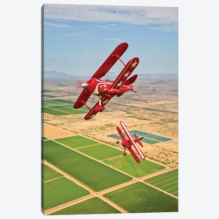 Two Pitts Special S-2A Aerobatic Biplanes In Flight Near Chandler, Arizona Canvas Print #TRK511} by Scott Germain Canvas Print