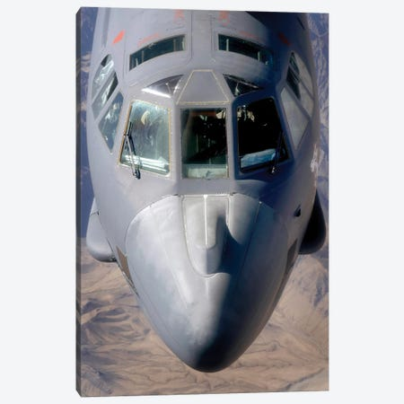 A B-52 Stratofortress Bomber Refuels During A Close Air Support Mission Canvas Print #TRK521} by Stocktrek Images Canvas Wall Art