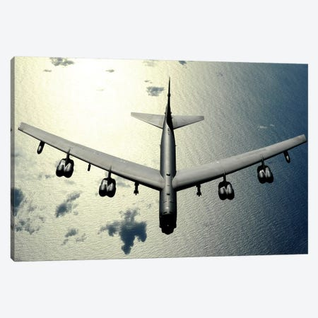 A B-52 Stratofortress In Flight Over The Pacific Ocean Canvas Print #TRK522} by Stocktrek Images Canvas Art