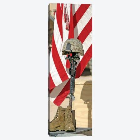 A Battlefield Memorial Cross Rifle Display Canvas Print #TRK528} by Stocktrek Images Canvas Art