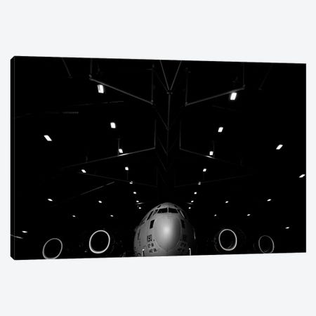 A C-17 Globemaster III Sits In A Hangar At McChord Field Air Force Base, Washington Canvas Print #TRK535} by Stocktrek Images Canvas Artwork
