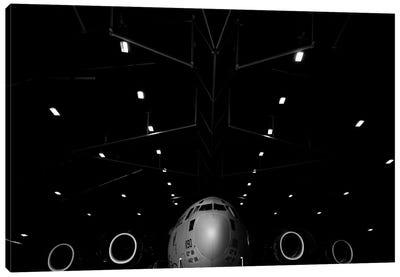 A C-17 Globemaster III Sits In A Hangar At McChord Field Air Force Base, Washington Canvas Art Print