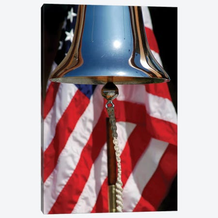 A Ceremonial Ships Bell Displayed During A Dedication Ceremony Canvas Print #TRK537} by Stocktrek Images Canvas Artwork