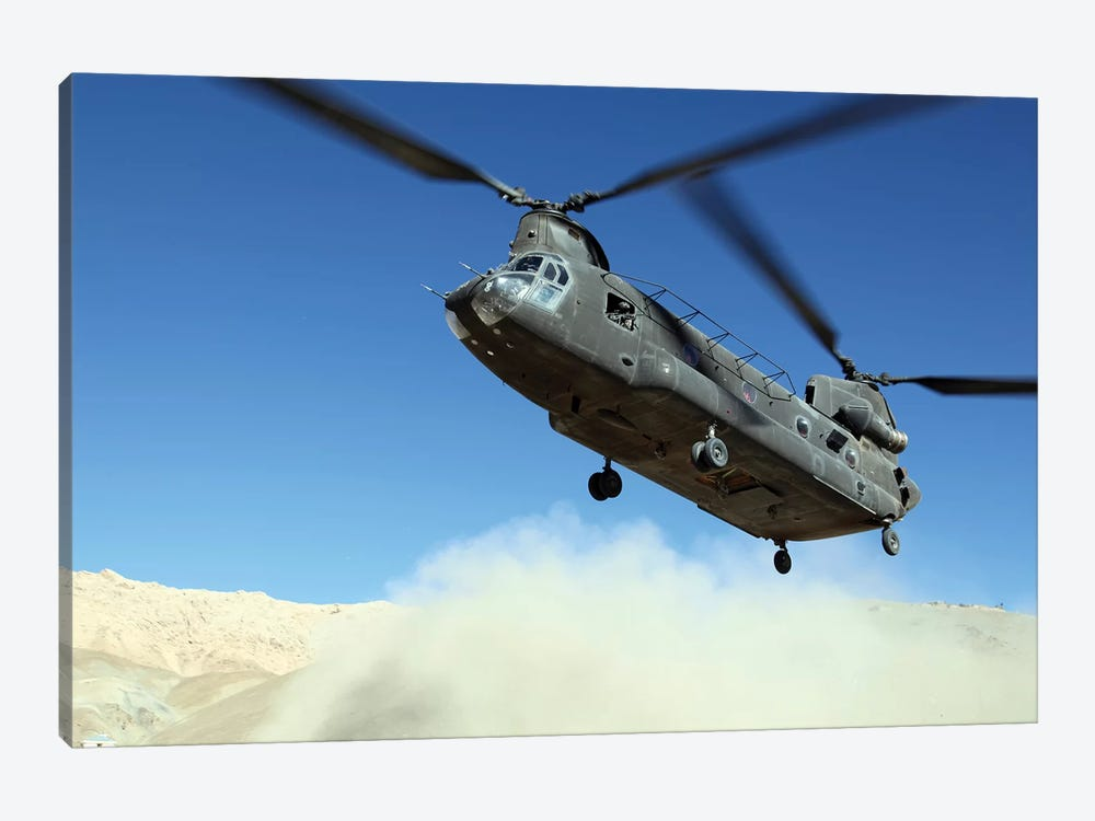 A CH-47 Chinook Prepares To Land by Stocktrek Images 1-piece Canvas Art Print