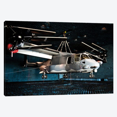 A CV-22 Osprey Hangs In An Anechoic Chamber Canvas Print #TRK548} by Stocktrek Images Canvas Art