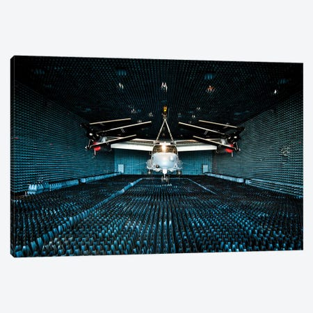 A Cv-22 Osprey Hangs In The Anechoic Chamber At Eglin Air Force Base Canvas Print #TRK549} by Stocktrek Images Canvas Wall Art