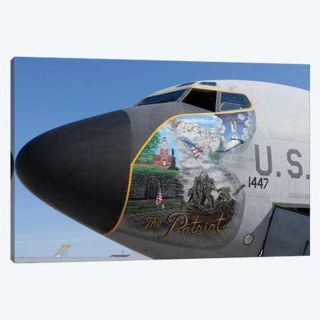 A KC-135 Stratotanker Displaying Patriotic Nose Art Canvas Print #TRK558} by Stocktrek Images Art Print