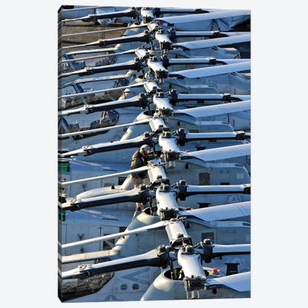 A Marine Conducts Maintenance On An AH-1Z Cobra Helicopter Canvas Print #TRK565} by Stocktrek Images Canvas Print