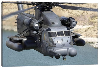 A MH-53J Pave Low IIIE Heavy-Lift Helicopter Canvas Art Print
