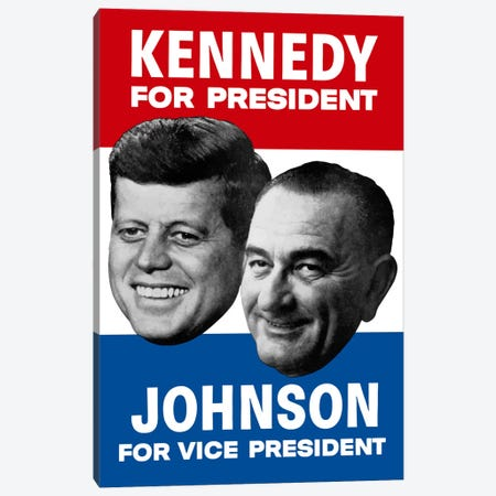 Vintage 1960 Democratic Nominees Election Poster Canvas Print #TRK57} by John Parrot Canvas Artwork