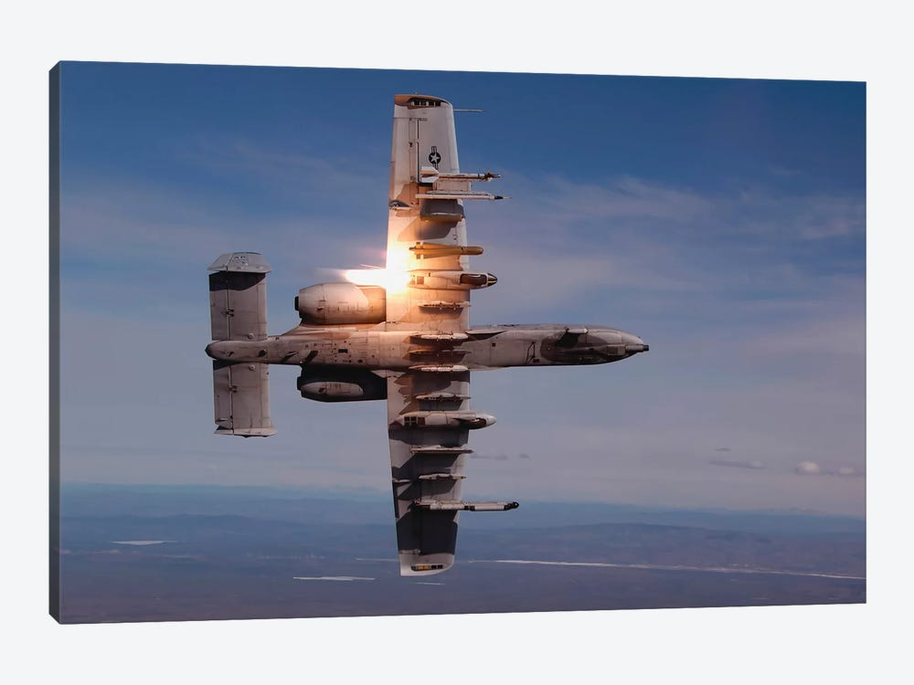 A Pilot Fires A Missile In An A-10 Thunderbolt II by Stocktrek Images 1-piece Canvas Artwork